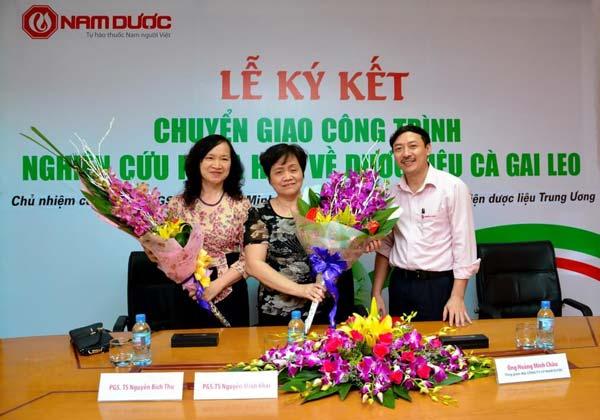 Đề tài nghiên cứu khoa học cà gai leo của TS. Nguyễn Thị Minh Khai